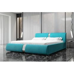 Łóżko tapicerowane ROSIE turkus