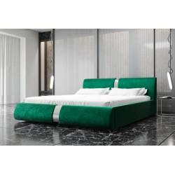 Łóżko tapicerowane ROSIE butelkowa zieleń