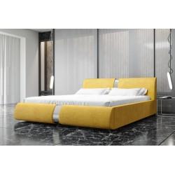 Łóżko tapicerowane ROSIE żółte