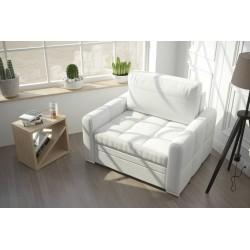 Fotel NERO 100 cm biała eco skóra Fotel NERO 100 cm turkus