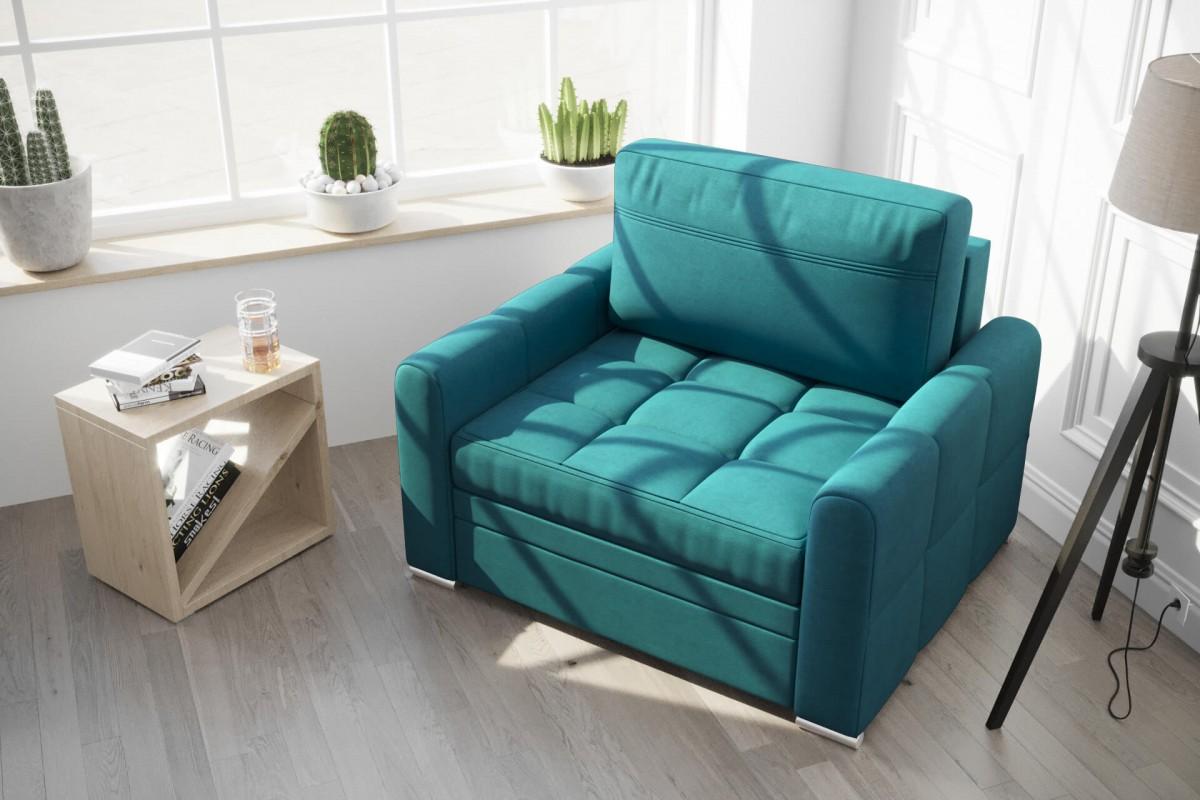 Fotel NERO 100 cm turkus