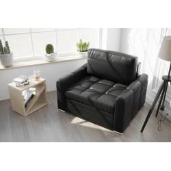 Fotel NERO 100 cm czarna eco skóra Fotel NERO 100 cm turkus