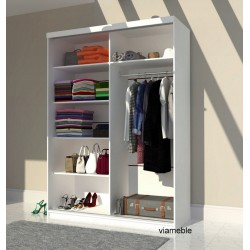 Wnętrze szafy LUXURY 100 cm, 125 cm, 150 cm, 175 cm, 200 cm Szafa LUXURY biało-szara