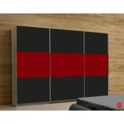 Szafa AGAT I czarno-czerwona