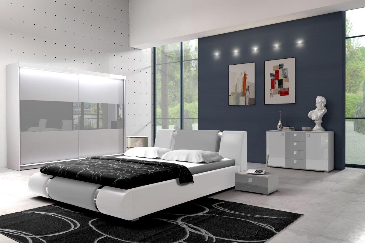 Sypialnia LUXURY I biało-szara