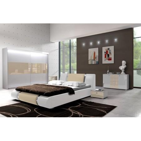 Sypialnia LUXURY I biało-kremowa