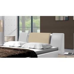 Łóżko LUXURY biało-kremowe