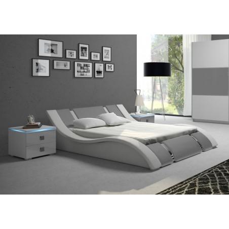 Łóżko RUBIN biało-szare