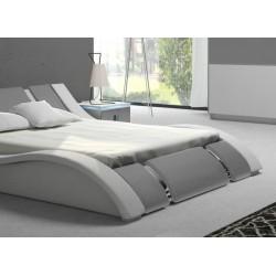 Łóżko RUBIN biało-szare Łóżko RUBIN biało-szare