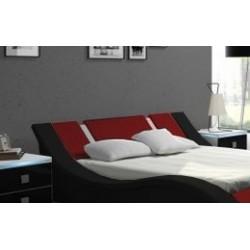 Łóżko RUBIN czarno-czerwone Łóżko RUBIN czarno-czerwone