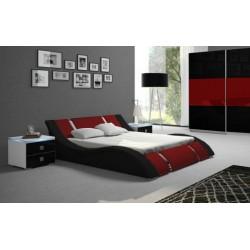 Łóżko RUBIN czarno-czerwone