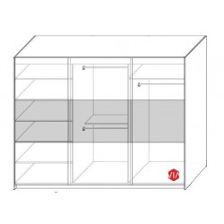 Wnętrze szafy Sypialnia TOPAZ biało-czarna