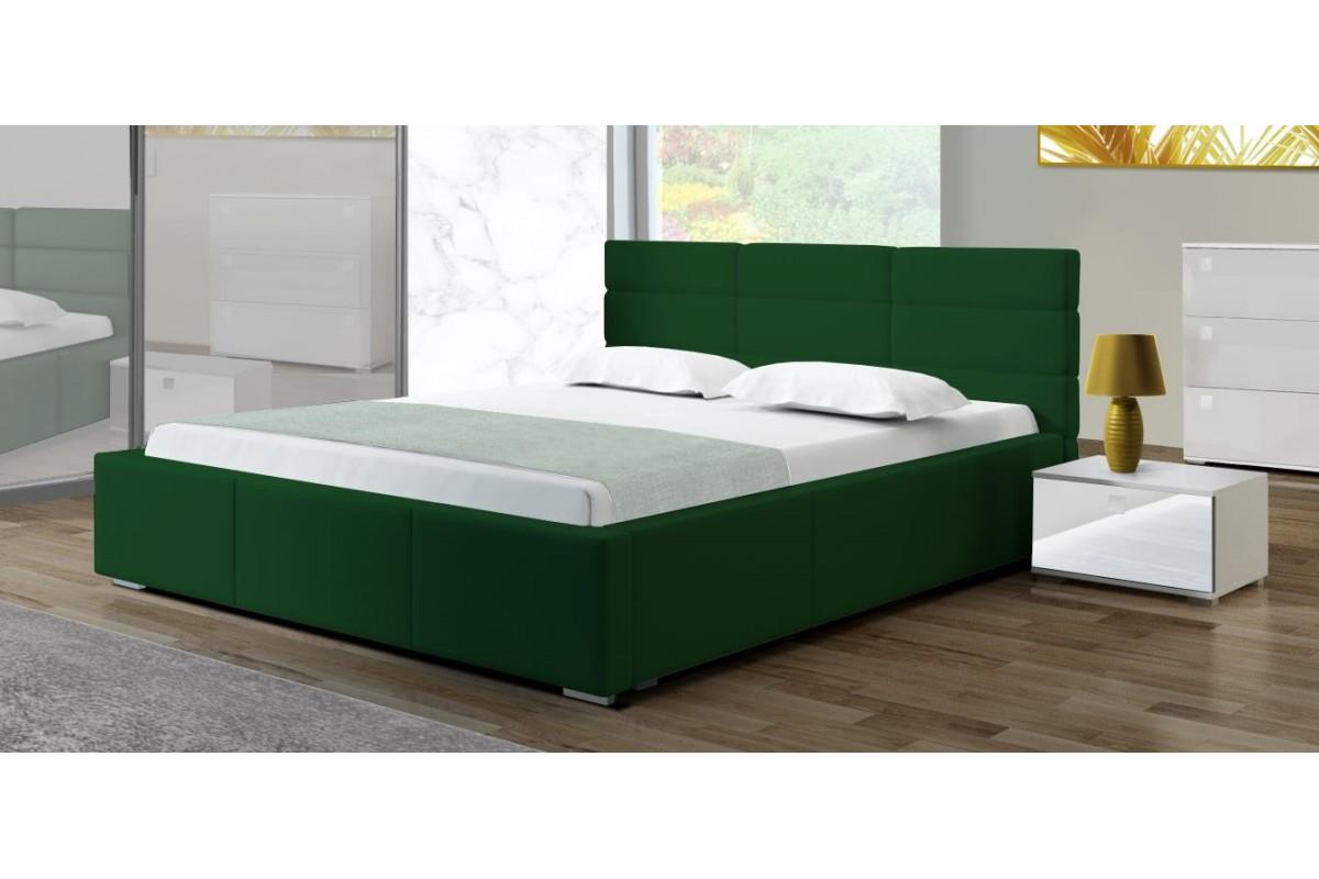 Łóżko PERŁA butelkowa zieleń
