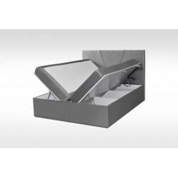 dwa pojemniki na pościel łożko BAZIC