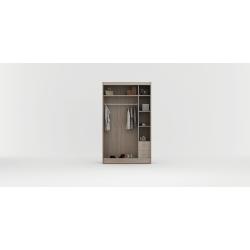 Wnętrze szafy o szerokości 120 cm II. Szafa RUMBA 150 biała