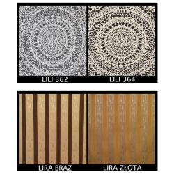 Tkanina LILI, LIRA Zestaw nr.54, kolor blatu: biały połysk