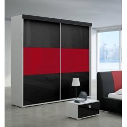 Szafa LUXURY Sypialnia LUXURY II w kolorze czarno-czerwonym