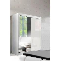 Szafa z lustrem w kolorze białym Sypialnia LUXE w kolorze białym