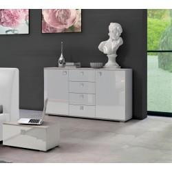 Komoda 120 cm Sypialnia LUXE w kolorze białym