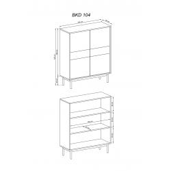 II. wymiary komody I BKD 104 Zestaw SIMPLE