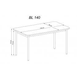 IV. wymiary stołu BL 140 Zestaw SIMPLE