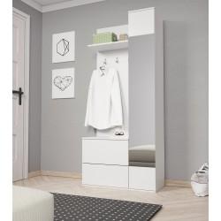garderoba ART biała garderoba ART dąb sonoma
