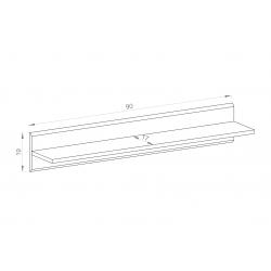 Wymiary półki IP 90 Zestaw LOFT I