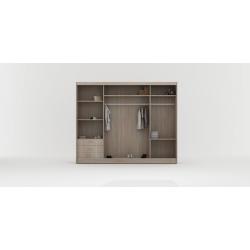 Wnętrze szafy w rozmiarze 250 cm Sypialnia ROYAL I biało-szara