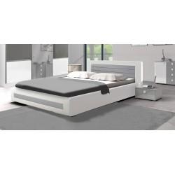 Łóżko Sypialnia ROYAL I biało-szara