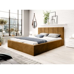Łóżko ROSSIE musztardowe