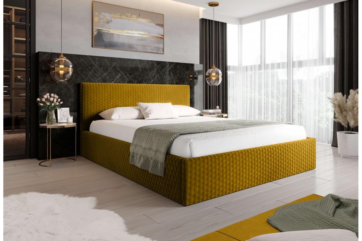 Łóżko MOLI musztardowe