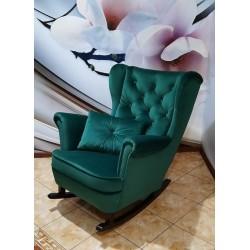 Fotel typu uszak bujany z płozami Fotel uszak pikowany z płozami