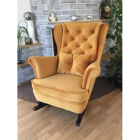 Fotel uszak pikowany z płozami