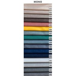 Tkanina MONO Fotel uszak + podnóżek