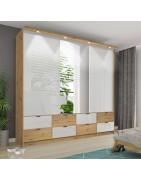 Viameble | Przesuwne szafy trzydrzwiowe z lustrem na froncie